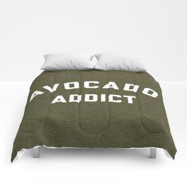 Avocado Addict Funny Quote Comforters