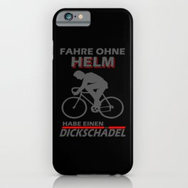 Bicyclist Fat Skull Bike Saying iPhone Case