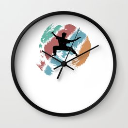 Kungfu gift for Martial Arts Fans Wall Clock
