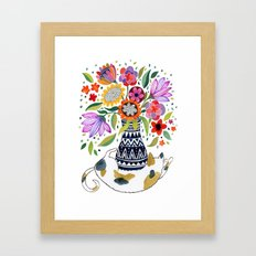 Calico Bouquet Framed Art Print