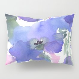 Blue Poppies and Wildflowers Pillow Sham