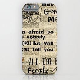 alice in wonderland have I gone mad iPhone Case