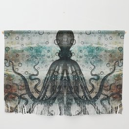 Octopus In Stormy Water Wall Hanging