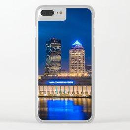 Tampa Blue Clear iPhone Case