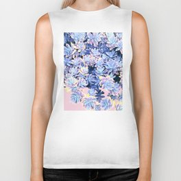 Cactus Fall - Blue and Pink Biker Tank
