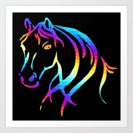 Colorful Horse Head Art Print