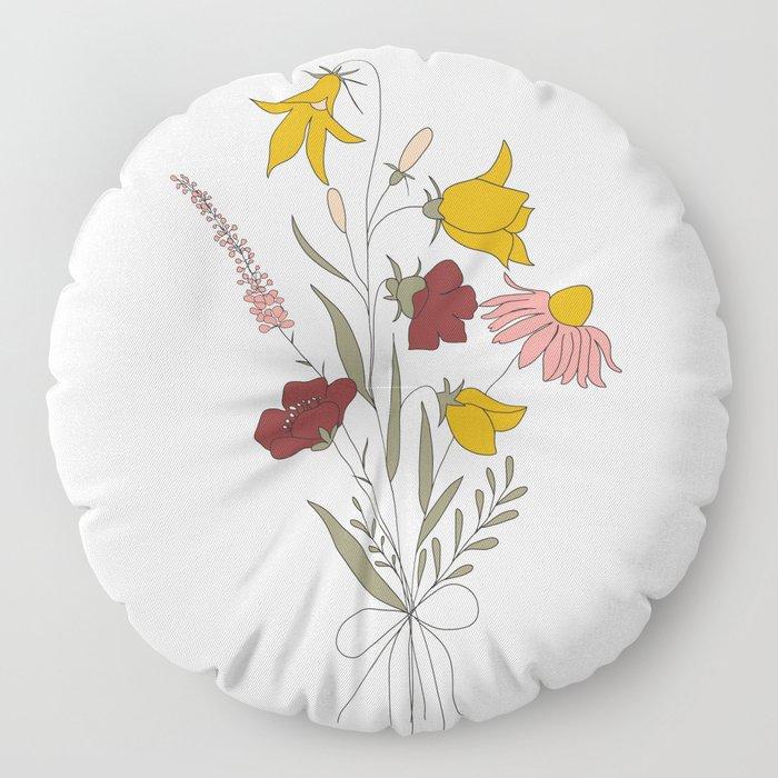 Wildflowers Bouquet Floor Pillow