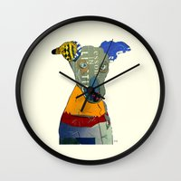greyhound Wall Clocks featuring kacy (greyhound  by bri.buckley