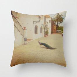 Italian Peafowl Throw Pillow