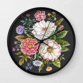 Watercolor Flowers #59 Wall Clock