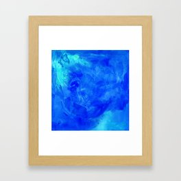 Ice Palace Watercolor Texture Framed Art Print