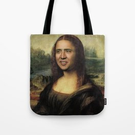 Nicholas Cage Mona Lisa face swap Tote Bag