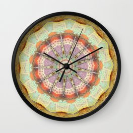 Bohemian Spirit Peace Mandala Wall Clock