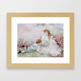 Mother and Son Framed Art Print