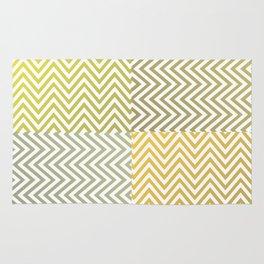 Geometric Lines Pattern Yellowish Rug