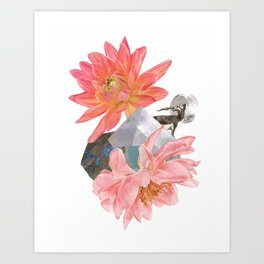 Gazelle and Flowers Art Print