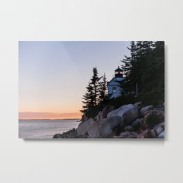 bass harbor head lighthouse, acadia national park Metal Print