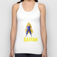 vegeta Tank Tops featuring Train In Saiyan Vegeta  by nicksoulart