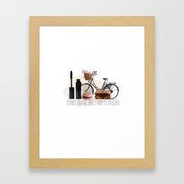 peonies and mascara Framed Art Print