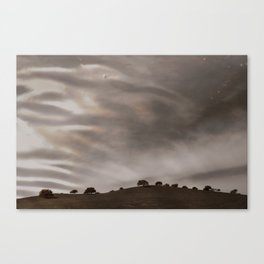 the sky is acting funny Canvas Print
