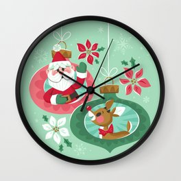 Merry Christmas from Santa & Rudolph Wall Clock