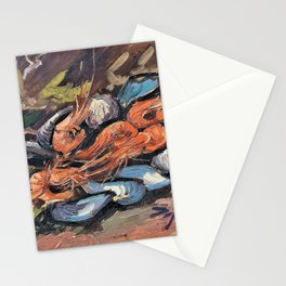 Vincent van Gogh - Prawns and Mussels - Digital Remastered Edition Stationery Cards