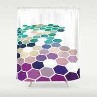 alabama Shower Curtains featuring Alabama by Bakmann Art