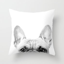 Bruno The French Bulldog Throw Pillow