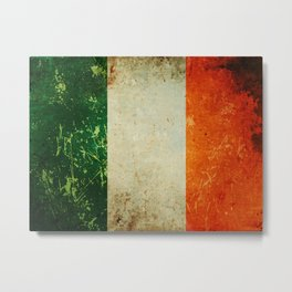 Grunge Irish Flag / Irish Tricolour Metal Print