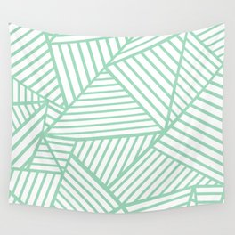 Abstract Lines Close Up Mint Wall Tapestry
