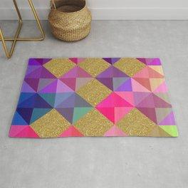 Colorfur squares pattern Rug