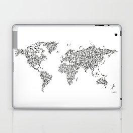 Kanji Calligraphy World Map Laptop & iPad Skin