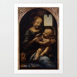 """Leonardo da Vinci """"Madonna and the Child (The Benois Madonna)"""" Art Print"""
