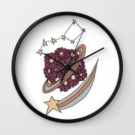 Daisy Planet and Shooting Stars Galaxy Design Wall Clock