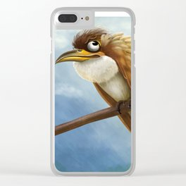 Whimsical Bird Clear iPhone Case