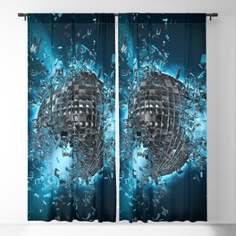 Disco planet explosion Blackout Curtain