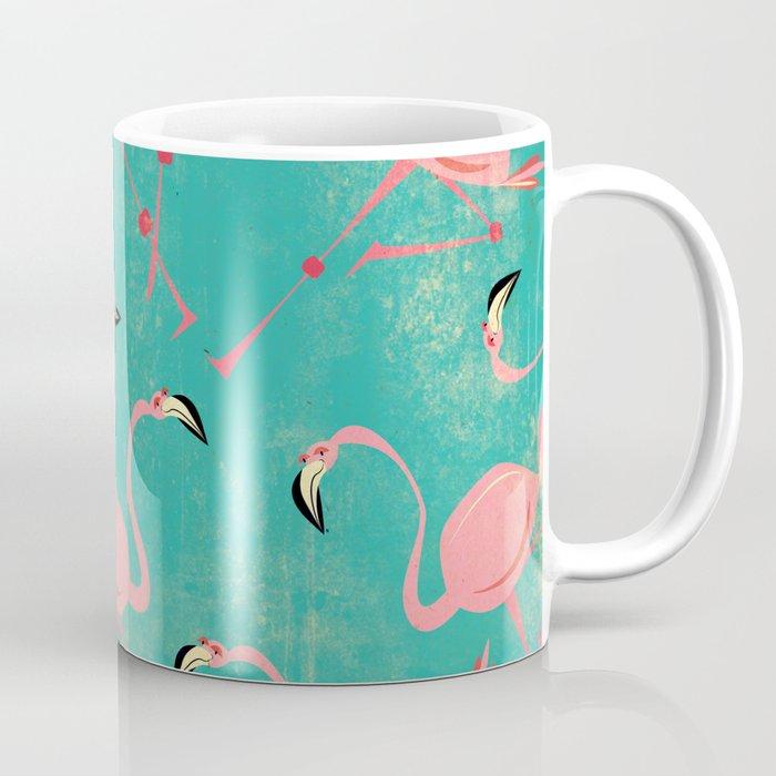 Pink Flamingo  Pattern Coffee Mug