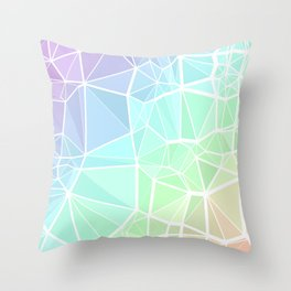Rainbow Triangles Throw Pillow