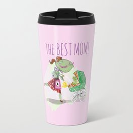 The Best Mom in Pink Travel Mug