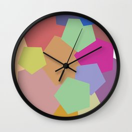 Colliding Colors Wall Clock