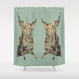 CARCASS OF BEEF: Rembrandt Refabricated Shower Curtain