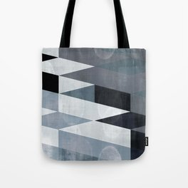 blue abstract, abstract art, office art, contemporary art, geometric print, modern painting, mid cen Tote Bag