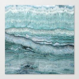Mystic Stone Aqua Teal Canvas Print