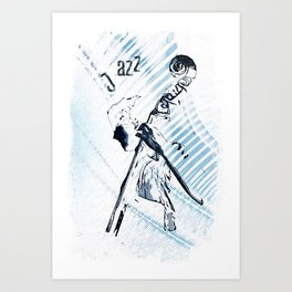 Double Bassist Art Print