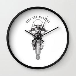 Ride The Machine Wall Clock