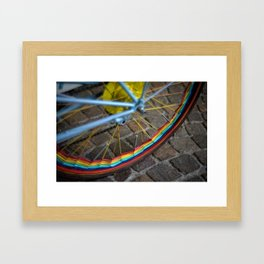 Bicycle tire Framed Art Print