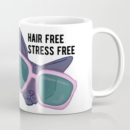 Hair Free Care Free - Sphynx Cat with Sunglasses Chilling Coffee Mug
