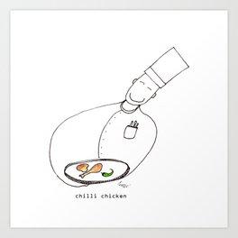 Chilli Chicken Art Print
