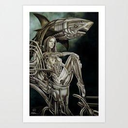 Dolls - Robot Shark Art Print