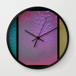 Drops, Tryptych Wall Clock
